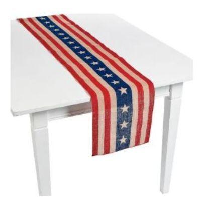 Patriotic Plastic Table Runner 13