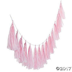 Garland Tassel Pink Light 6'
