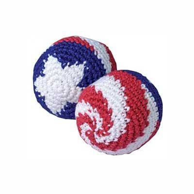 Patriotic Knit Hacky Sacks