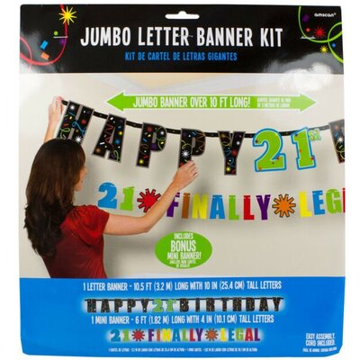 21st Birthday Banner - 2 Pack