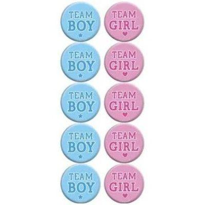 Gender Reveal Buttons - 10 Pack