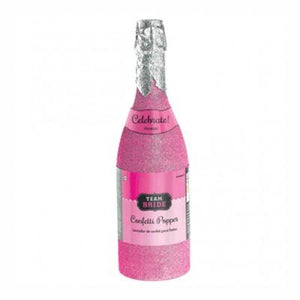 Team Bride Champagne Bottle Confetti Popper