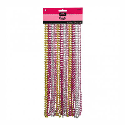 Team Bride Bead Necklaces - 24 Pack