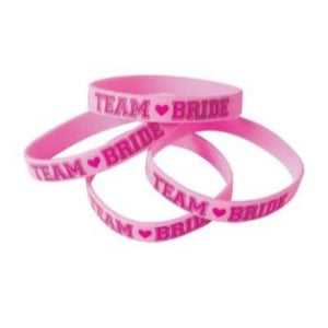 Team Bride Rubber Bracelet - 6 Pack