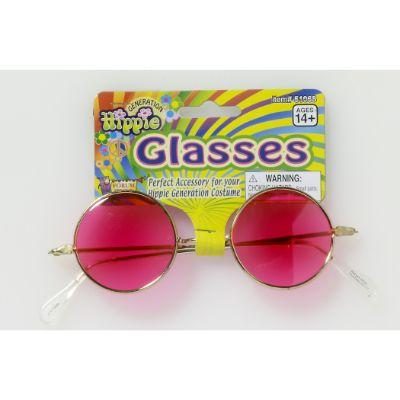 60's Hippie Pink Glasses