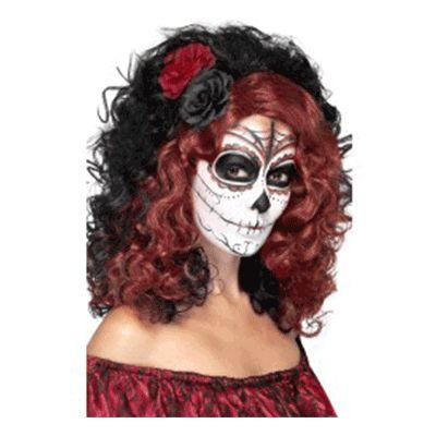 Day of the Dead Black Wig