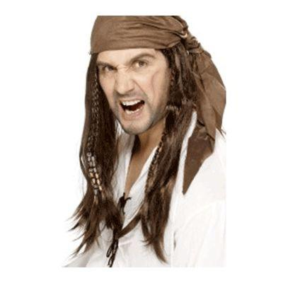 Pirate Brown Scarf Hair Wig