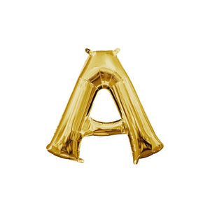 "Gold Letter A Mylar Balloon 16"" (Air Filled)"