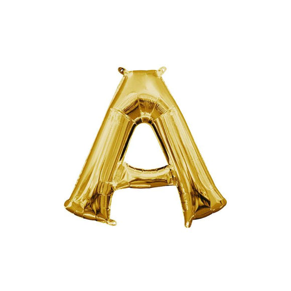 Gold Letter A Mylar Balloon 16