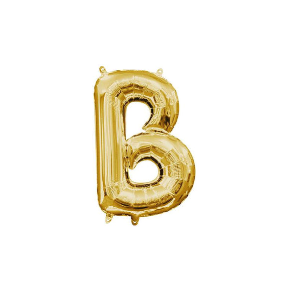 Gold Letter B Mylar Balloon 16