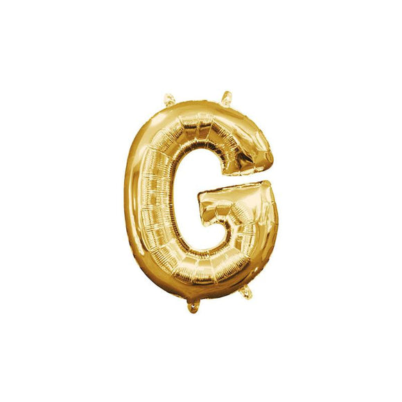 Gold Letter G Mylar Balloon 16