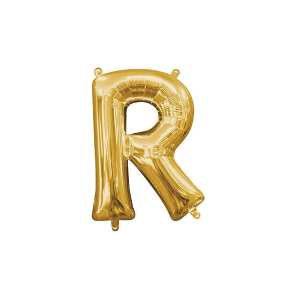 Gold Letter R Mylar Balloon 16