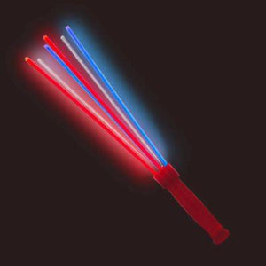 Red White & Blue Glow Stick Wand