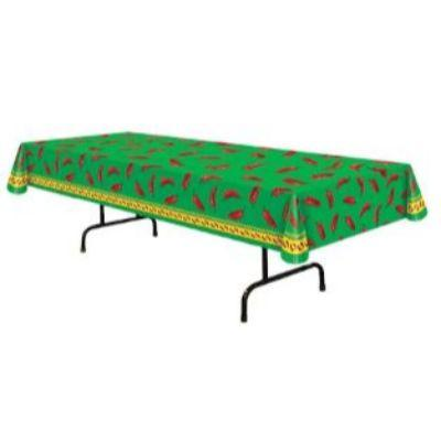 Chili Pepper Plastic Tablecover 54