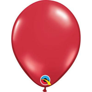 "Red Ruby Transparent Latex Balloons 5"" - 100 Pack"
