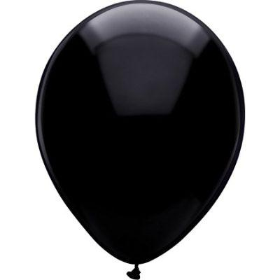 Black Pitch Latex Balloons 5