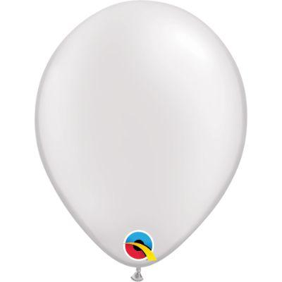 White Metallic Latex Balloons 5
