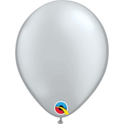 Silver Metallic Latex Balloons 5