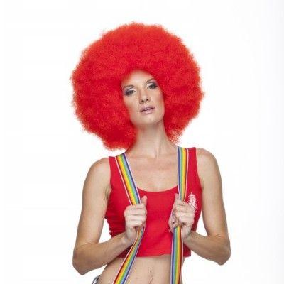 Jumbo Red Clown Afro Wig