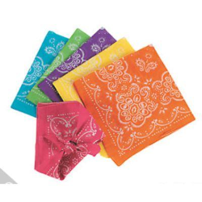 80s Neon Single Bandanna - Assorted Colors