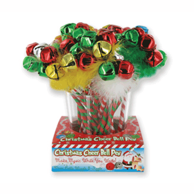 Christmas Cheer Bell Pen - Assorted