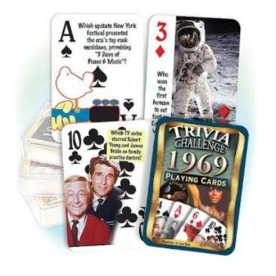 Remembering The Year Trivia Playing Cards - 1929-1987