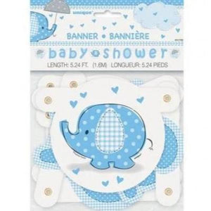 Umbrellaphant Baby Shower Blue Banner 12'