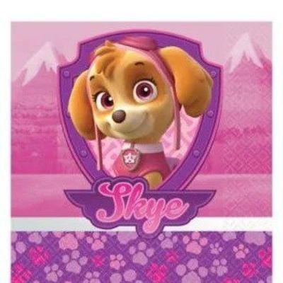 Paw Patrol Girl Beverage Napkin - 16 Pack