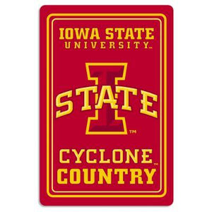 Iowa State Cyclone Country Sign