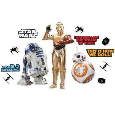 Star Wars Droids Cutouts - 15 Pack