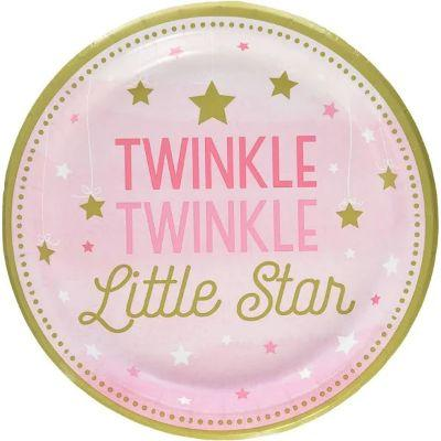Pink Twinkle Dinner Plates - 8 pack