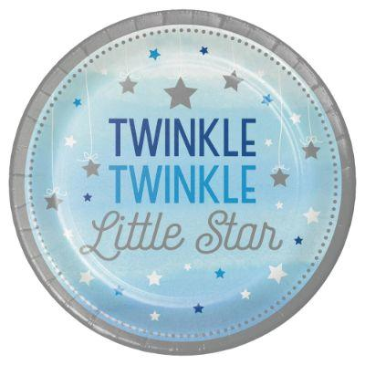 Blue Twinkle Dinner Plates - 8 pack