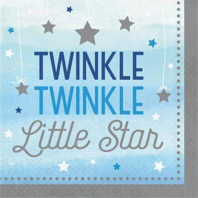 Blue Twinkle Lunch Napkins - 16 pack