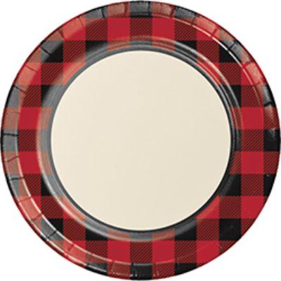 Buffalo Plaid Plate Dinner Pk8