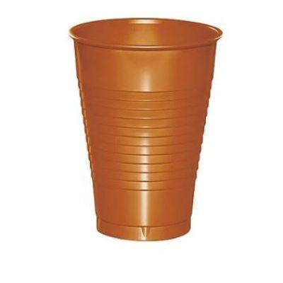 Pumpkin Spice Orange Plastic Cup 12 oz. - 20 Pack