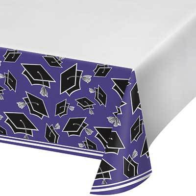 Purple Congrats Grad Tablecover 54
