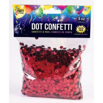 Confetti Dot Red 8oz