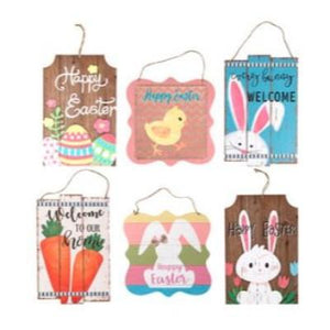 Easter Hanging Plaque Decoration Assorted