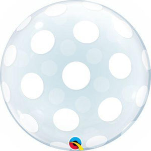Bubble Balloon Clear Dots 22""