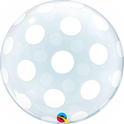 Bubble Balloon Clear Dots 22