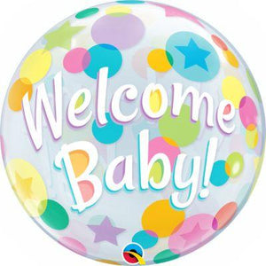 Bubble Balloon Welcome Baby 22""