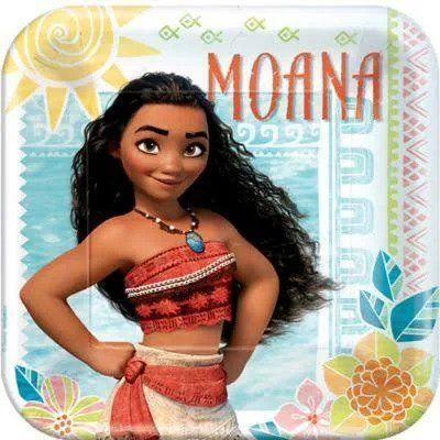 Moana Square Dinner Plate - 8 Pack