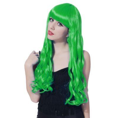 Long Curly Green Wig