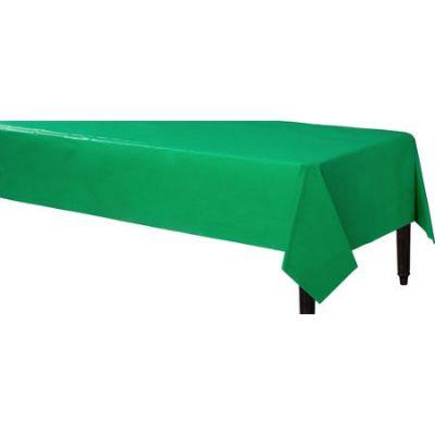 Festive Green Heavyweight Plastic Tablecover 54