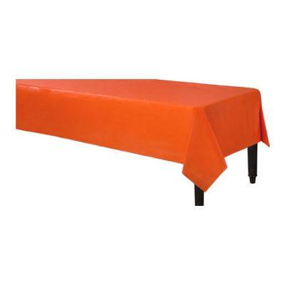 Orange Heavyweight Plastic Tablcover 54