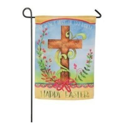 Easter Lily Cross Garden Flag Decoration