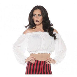 White Crop Top Blouse Adult