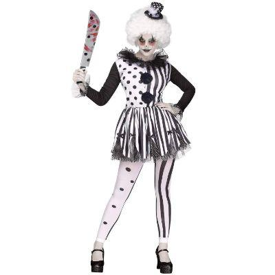 Killer Clown Lady Adult Costume