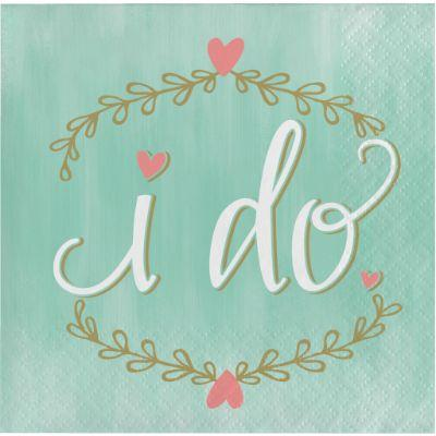 Mint To Be I Do Napkin Beverage Pk16
