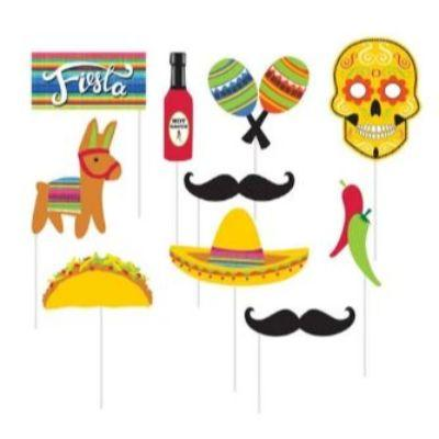 Fiesta Photo Prop Set - 10 Pack